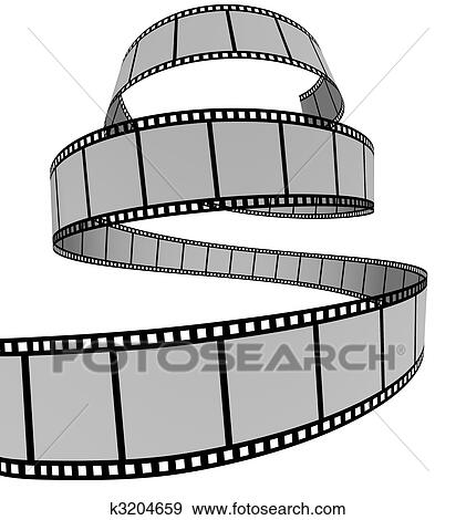 Stock illustration film strip fotosearch search vector clipart