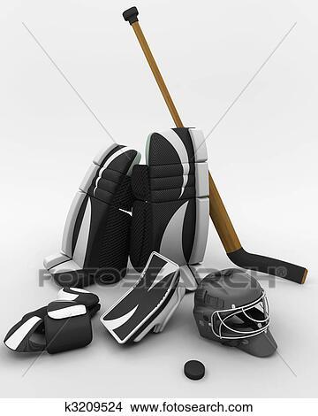 Dessins hockey glace gardien de but quipement - Dessin gardien de but ...