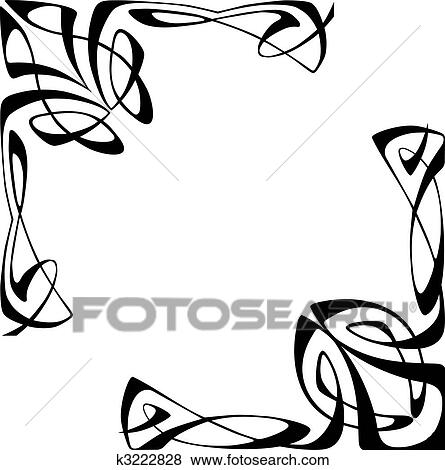clip art of art deco corners k3222828 search clipart illustration rh fotosearch com art deco clip art borders art deco clip art designs
