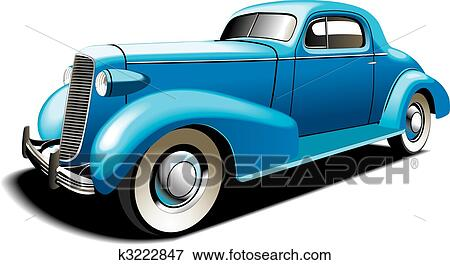 clip art of blue old car k3222847 search clipart illustration rh fotosearch com vintage car clipart black and white vintage car clipart black and white