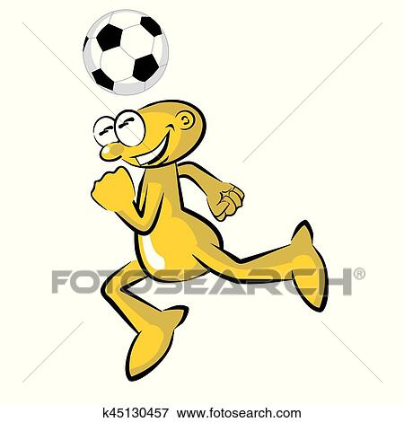 clip art of funny soccer player practicing storyboard k45130457 rh fotosearch com soccer player clipart black and white clipart soccer player