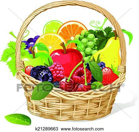 Clipart canestro frutta k21289663 cerca clipart for Clipart frutta