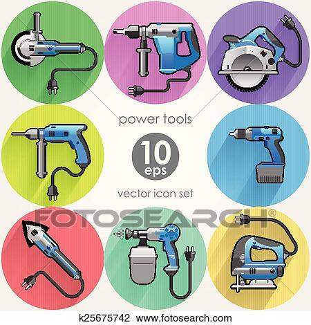Power Tool Drawings Clipart Power Tool Set