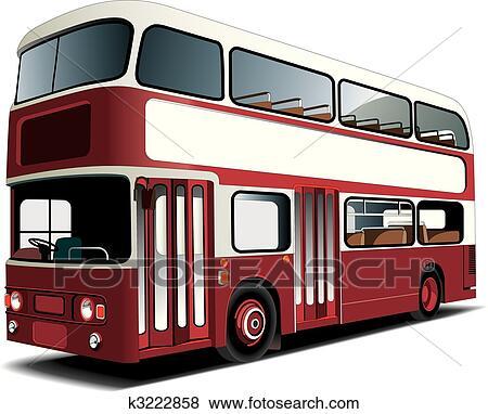Clip Art - doppeldeckerbus k3222858 - Suche Clipart ...