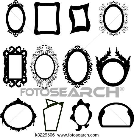 Clipart miroir silhouettes ensemble k3229506 for Image miroir photoshop