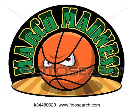 clip art of march madness k34480029 search clipart illustration rh fotosearch com ncaa march madness clipart March Calendar Header Clip Art