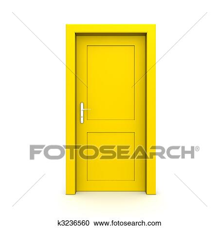 closed door clipart. Stock Illustration - Closed Single Yellow Door. Fotosearch Search Clipart, Posters, Door Clipart S