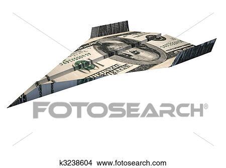 手绘图 - 美元, 飞机