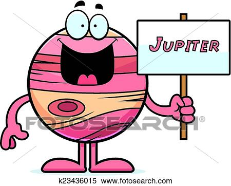 clipart of cartoon jupiter sign k23436015 search clip art rh fotosearch com Uranus Clip Art jupiter clipart black and white