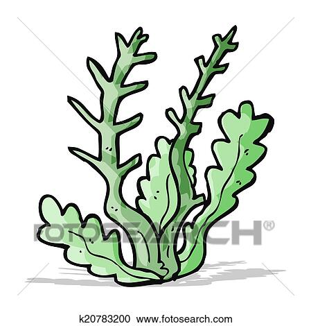 clipart of cartoon seaweed k20783200 search clip art illustration rh fotosearch com seaweed clipart free seaweed clipart black and white
