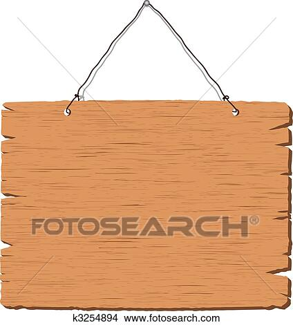Clipart Of Hanging Blank Wooden Sign K3254894 Search