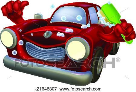 Clipart dessin anim lavage voiture k21646807 recherchez des cliparts des illustrations - Coloriage car wash ...