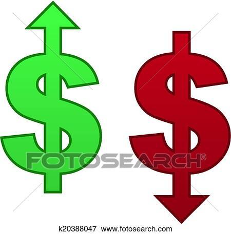 clip art of dollar arrow up down k20388047 search clipart rh fotosearch com dollar clip art images dollar clip art writable