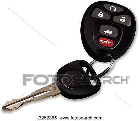 Clipart of Car keys wi...