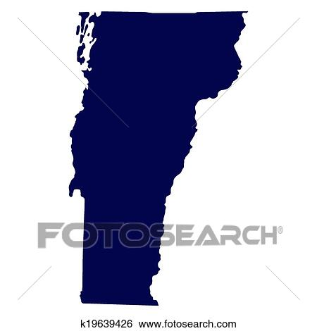 clip art map of the u s state of vermont fotosearch search clipart