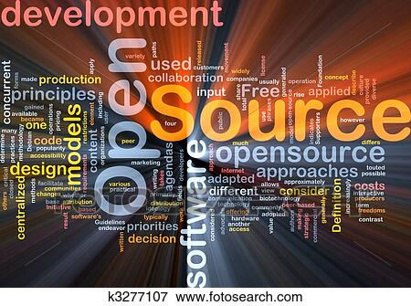 Stock illustration of open source background concept glowing k3277107 search eps clipart Open source illustrator