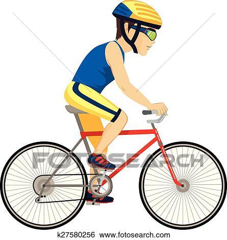 Clipart cycliste homme professionnel k27580256 - Cycliste dessin ...