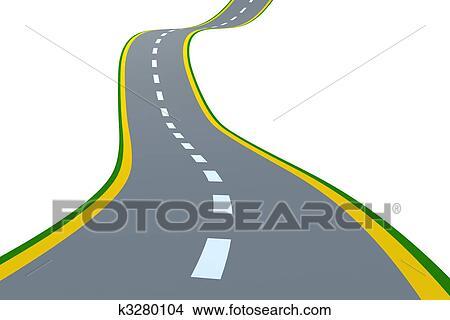 drawings of road k3280104 search clip art illustrations wall rh fotosearch com Highway Clip Art Cartoon Road Clip Art