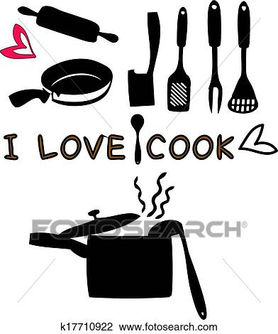 Kitchen Tools Drawings clipart of cooking tools kitchen utensils k17710922 - search clip