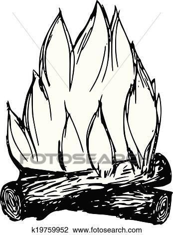 clipart feu camp k19759952 recherchez des clip arts des illustrations des dessins et des. Black Bedroom Furniture Sets. Home Design Ideas