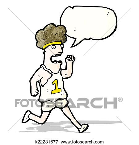 Clipart dessin anim fatigu marathon coureur k22231677 recherchez des cliparts des - Coureur dessin ...