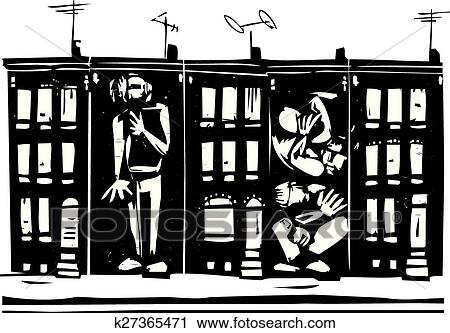Clipart of trapped in ghetto k27365471 search clip art clipart trapped in ghetto fotosearch search clip art illustration murals drawings sciox Gallery