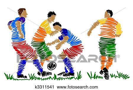足球主题的剪贴画