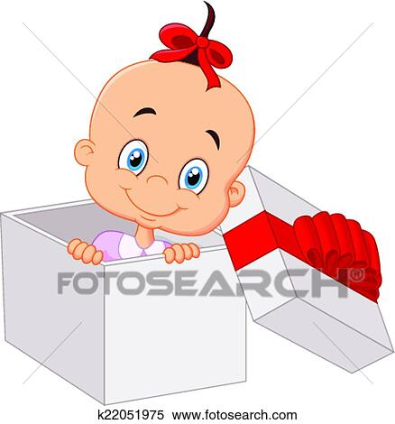 Open Gift Box Drawing