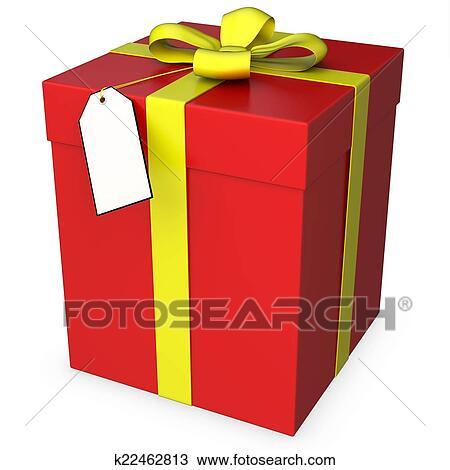 手绘图 - 3d, 礼物盒子