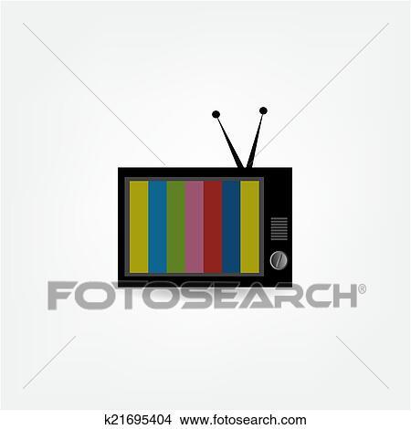 电视, 矢量,