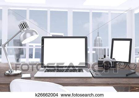 手绘图 - 3d, 描述, 笔记本电脑
