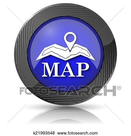 - 地图, 图标