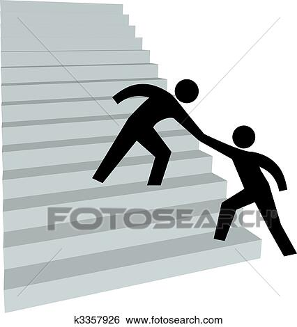 Clip Art of Business people help climb success k15110946 - Search ...