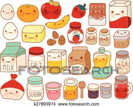Clipart Of Collection Of Lovely Cake Ingredient Icon