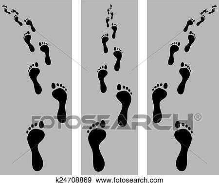 Clip Art of footsteps k24708869 - Search Clipart, Illustration ...