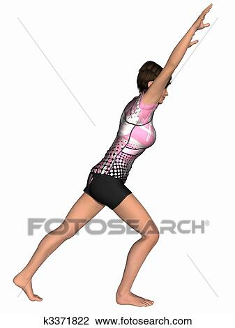 Clip art of gymnastic pose k3371822 search clipart for Pose poster mural