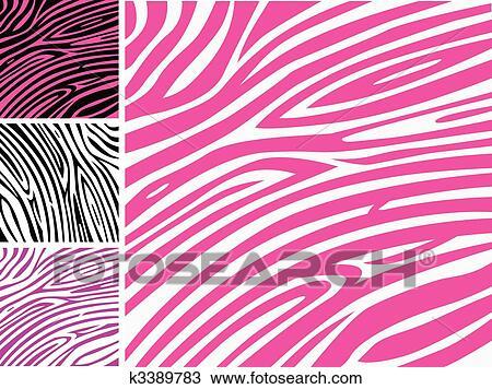 手绘图 - 粉红色, 有条纹的皮肤