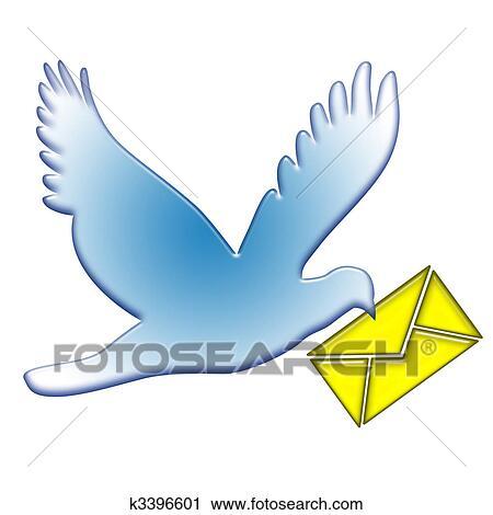 Clipart - colomba, postale k3396601 - Cerca Clipart, Illustrazioni ...