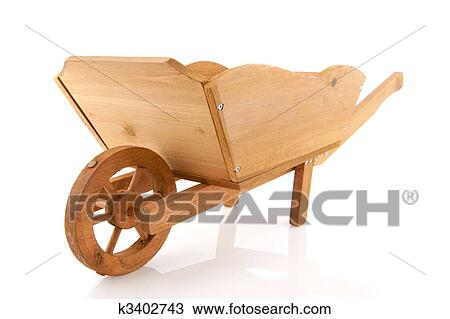 Stock Photo of Wooden wheelbarrow k3402743 - Search Stock ...