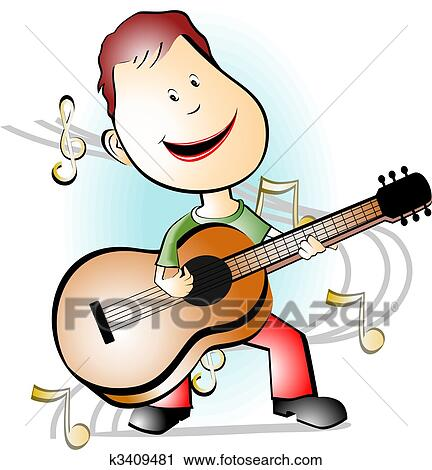 Clipart of guitar player k3409481 - Search Clip Art ...
