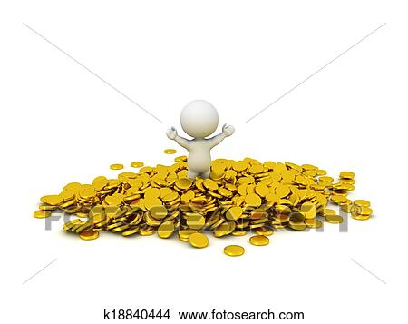 Pile of gold Vector Clip Art Illustrations 1744 Pile of