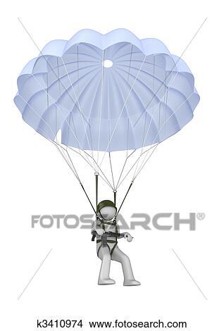 Dessins atterrissage parachutiste fusil k3410974 - Dessin parachutiste ...