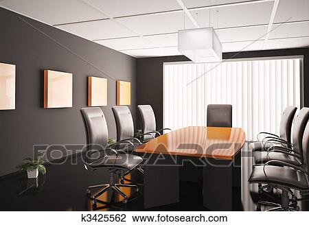 Clip Art Of Conference Room D K Search Clipart - Conference room table and chairs clip art