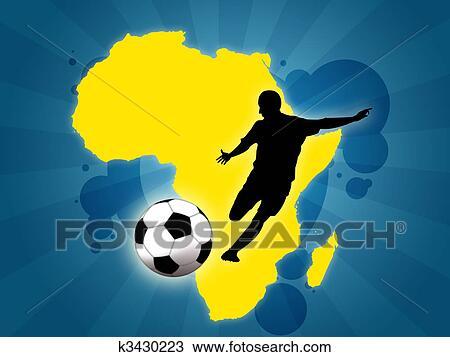 手绘图 - 非洲, 足球图片