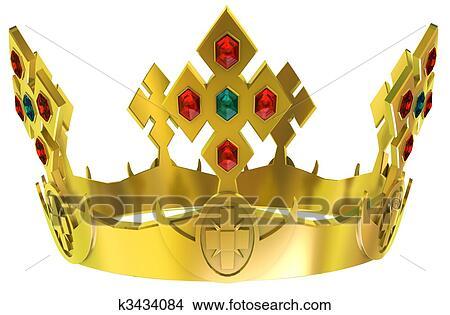手绘图 - 金子, 皇家的王冠