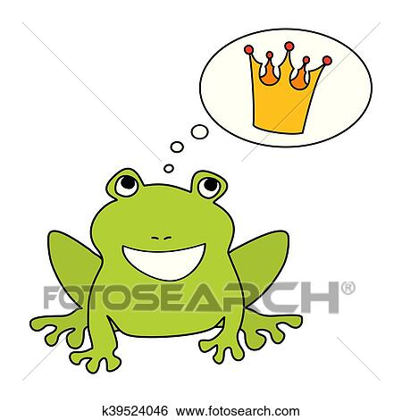 clip art of prince or princess frog dreaming k39524046 search rh fotosearch com frog prince clipart free frog prince clipart black and white