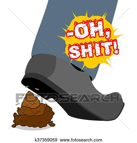 clip art of oh shit stepping shit piece of turd shoes and brown rh fotosearch com dog poop clipart free dog poop clipart free