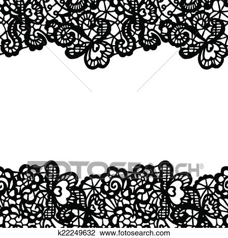 Clipart of seamless lace border invitation card k22249632 clipart seamless lace border invitation card fotosearch search clip art stopboris Image collections