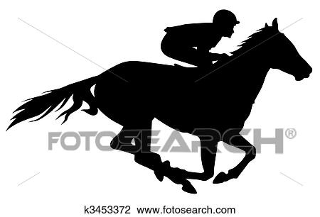 Race Track Wall Art >> Clipart of Horse racing k3453372 - Search Clip Art, Illustration Murals, Drawings and Vector EPS ...