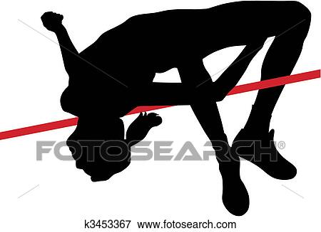 High jump Clip Art Royalty Free. 3,904 high jump clipart vector ...